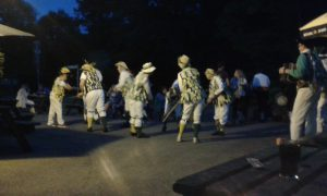 Morris dancing at the Castle Inn, Lulworth