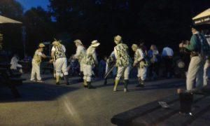 Morris dancing at the Castle Inn, Lulworth